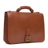 Hugh- Full Leather Briefcase