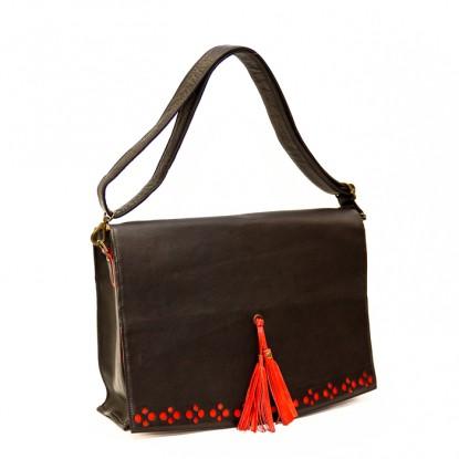 Helena -Fancy Leather Satchel